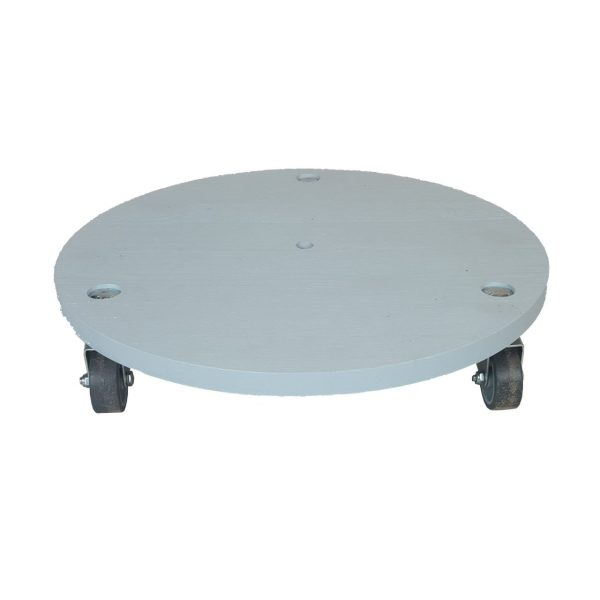 Nailsworth Blue large painted round pot stand plain