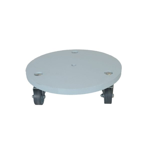 Nailsworth Blue medium painted round pot stand plain