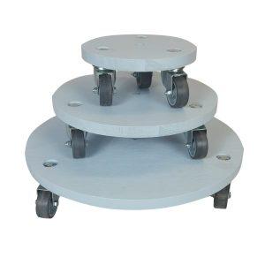Nailsworth Blue painted round pot stand set plain