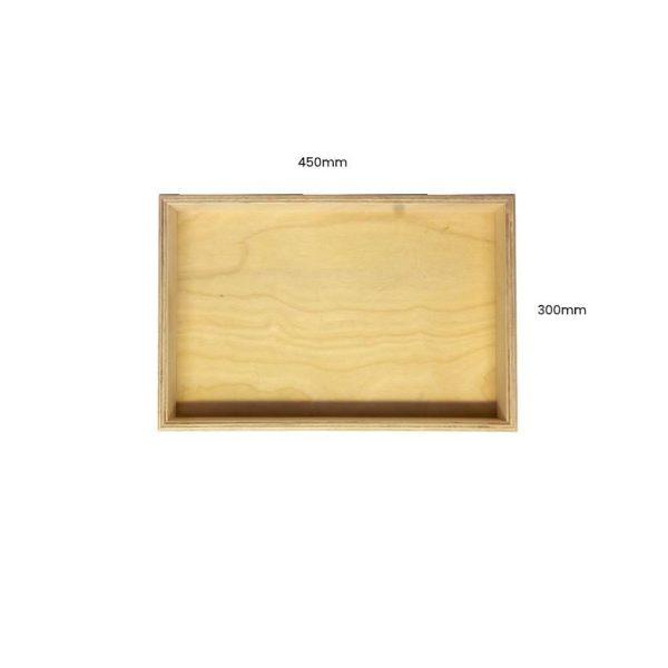 Natural Birch Ply Box Tray 450300