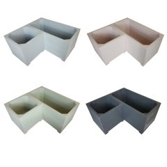 Painted corner square planter set collection plain