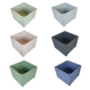 Painted large square planter selection plain