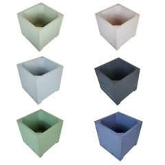 Painted small square planter selection plain