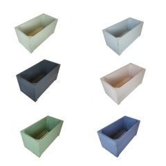 Painted square trough planter selection plain