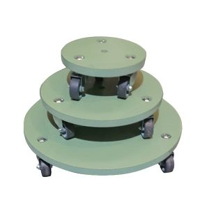 Tetbury Green painted round pot stand set plain