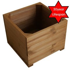 large thermowood square planter plain 30yr lifespan