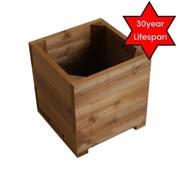 small thermowood square planter plain 30yr lifespan