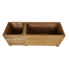 thermowood corner square planter set in line plain