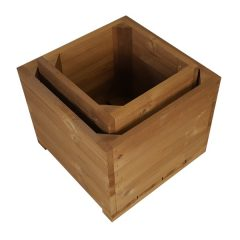 Thermowood Double Square Planter SET