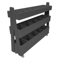 Amberley Grey Painted 3-Tier Queue Divider Display Stand 1200x260x940