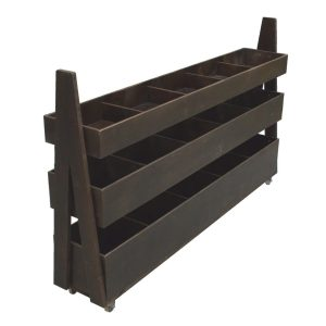 Dark Brown 1200mm 3-Tier Impulse Queue Divider Display Stand