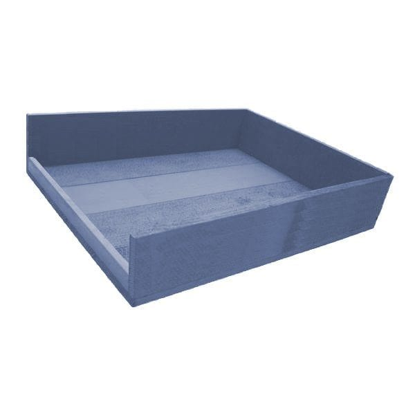 Kingscote Blue Painted Drop Side Tray 375x290x80
