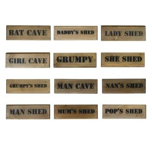Rustic Stencil Shed Sign selection