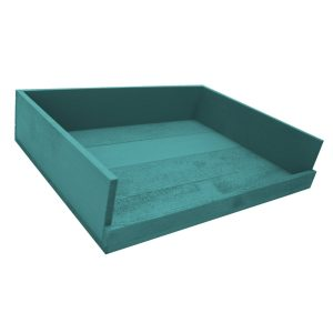 Turquoise Painted Drop Front Tray 375x290x80