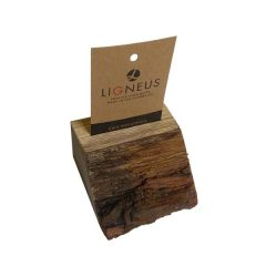 bark edged oak ticket holder with slot plain