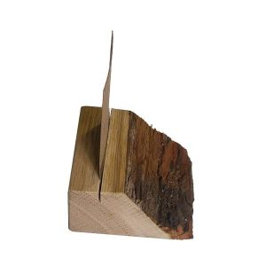 bark edged oak ticket holders with slot profile plain