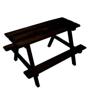 black Painted picnic bench plain