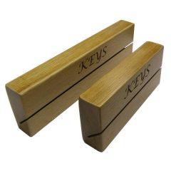 long and short oak key holder slot rack side plain