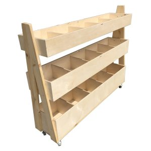 natural rustic 3-Tier Impulse Queue Divider Display Stand 1200x260x940