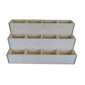 3 tier 12 compartment Condiment Unit front plain