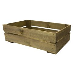 600mm shallow rustic crate