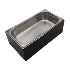 Black GN1/3 Gastronorm Painted Ply Box Display Unit 325x176x108