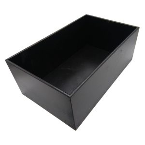 Black 208mm GN1/1 Gastronorm painted ply box display unit plain