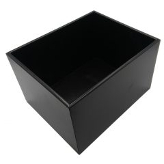 Black 208mm GN12 Gastronorm painted ply box display unit plain