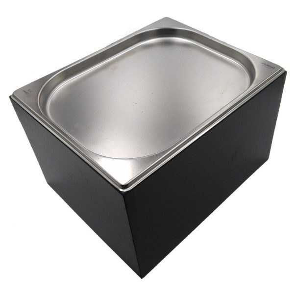 Black GN1/2 Gastronorm Painted Ply Box Display Unit 325x265x208