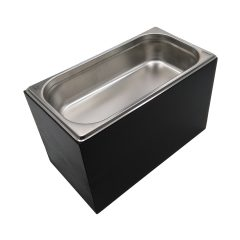Black GN1/3 Gastronorm Painted Ply Box Display Unit 325x176x208