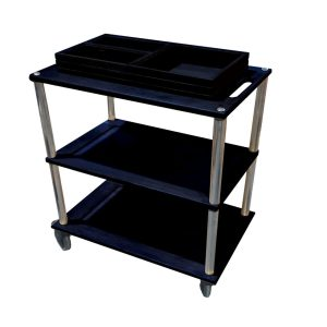 Black Hospitality trolley with boxes plain