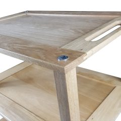 Burford Lacquered Oak Hospitality Trolley detail