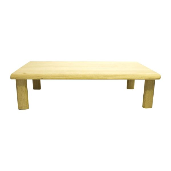 Lacquered Hewn Oak Table Riser 550x300x120