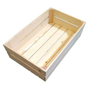 Natural 138mm GN11 Gastronorm rustic box display unit plain