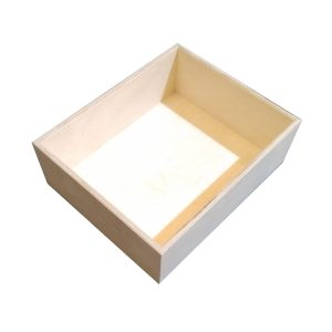 Natural 138mm GN12 Gastronorm ply box display unit plain