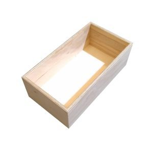 Natural 138mm GN13 Gastronorm ply box display unit plain