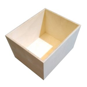 Natural 208mm GN12 Gastronorm ply box display unit plain