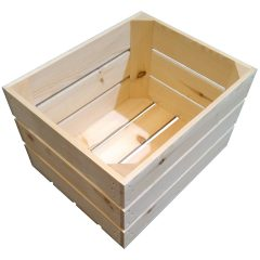 Natural 208mm GN12 Gastronorm rustic box display unit plain