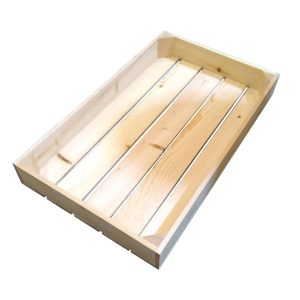Natural 68mm GN11 Gastronorm rustic box display unit plain