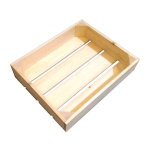 Natural 68mm GN12 Gastronorm rustic box display unit plain