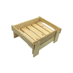 Natural GN1/2 Rustic Slatted Tray Riser 325x265x160