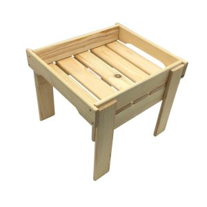 Natural GN1/2 Rustic Slatted Tray Riser 325x265x295