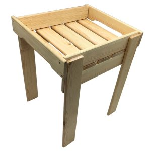 Natural GN1/2 Rustic Slatted Tray Riser 325x265x430