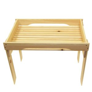 Natural GN1/1 Rustic Slatted Tray Riser 530x325x430