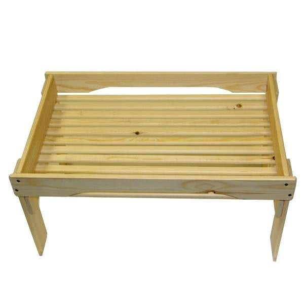 Natural GN1/1 Rustic Slatted Tray Riser 530x325x295