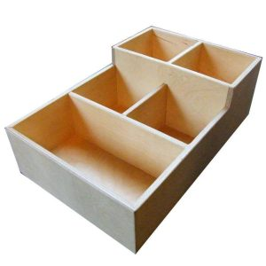 Natural Stained 2 tier 5 compartment Condiment unit