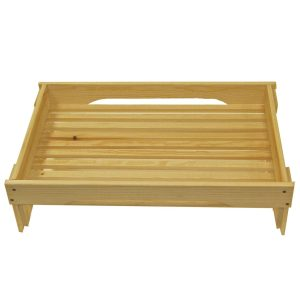 Natural GN1/1 Rustic Slatted Tray Riser 530x325x160