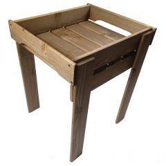 Rustic Brown GN1/2 Rustic Slatted Tray Riser 347x310x430