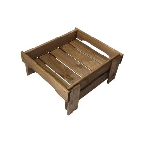 Rustic Brown low GN1/2 Rustic Slatted Tray Riser 347x310x160