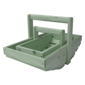Tetbury Green Painted Rustic Garden Trug Set